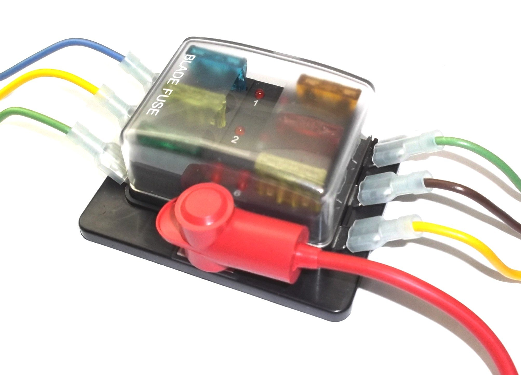 Fastronix 6 Circuit LED Fuse Block and Cover Kit with ATO/ATC Fuses product  image