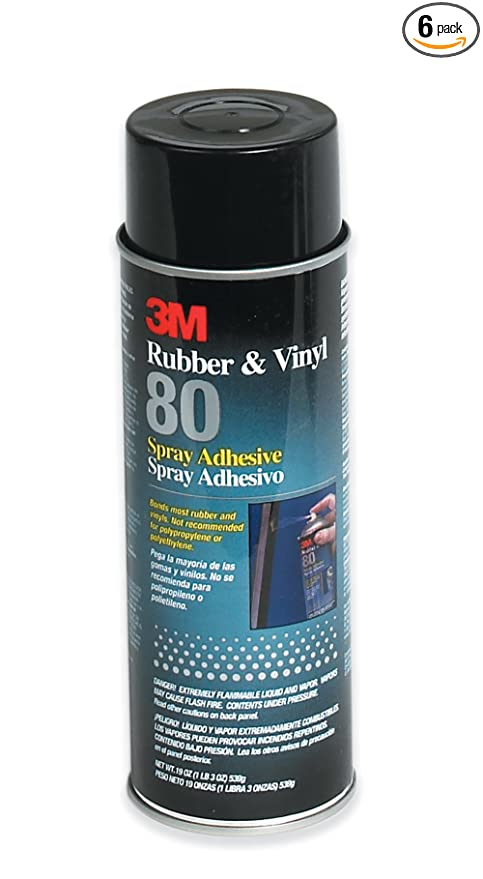 Amazon com: 3m 80 18 Oz Rubber & Vinyl 80 Spray Adhesive
