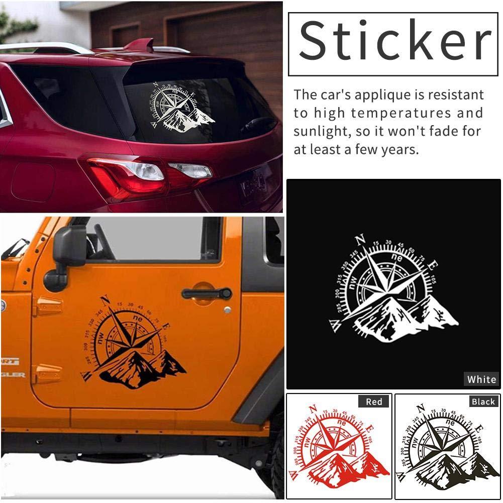 1pz Auto Etichetta Adesivo In Vinile Graffiti Adesivo Per Bussola Rose Navigate Mountain Adesivo Per Auto 4x4 Fuoristrada In Vinile Decalcomania Per Auto 3D
