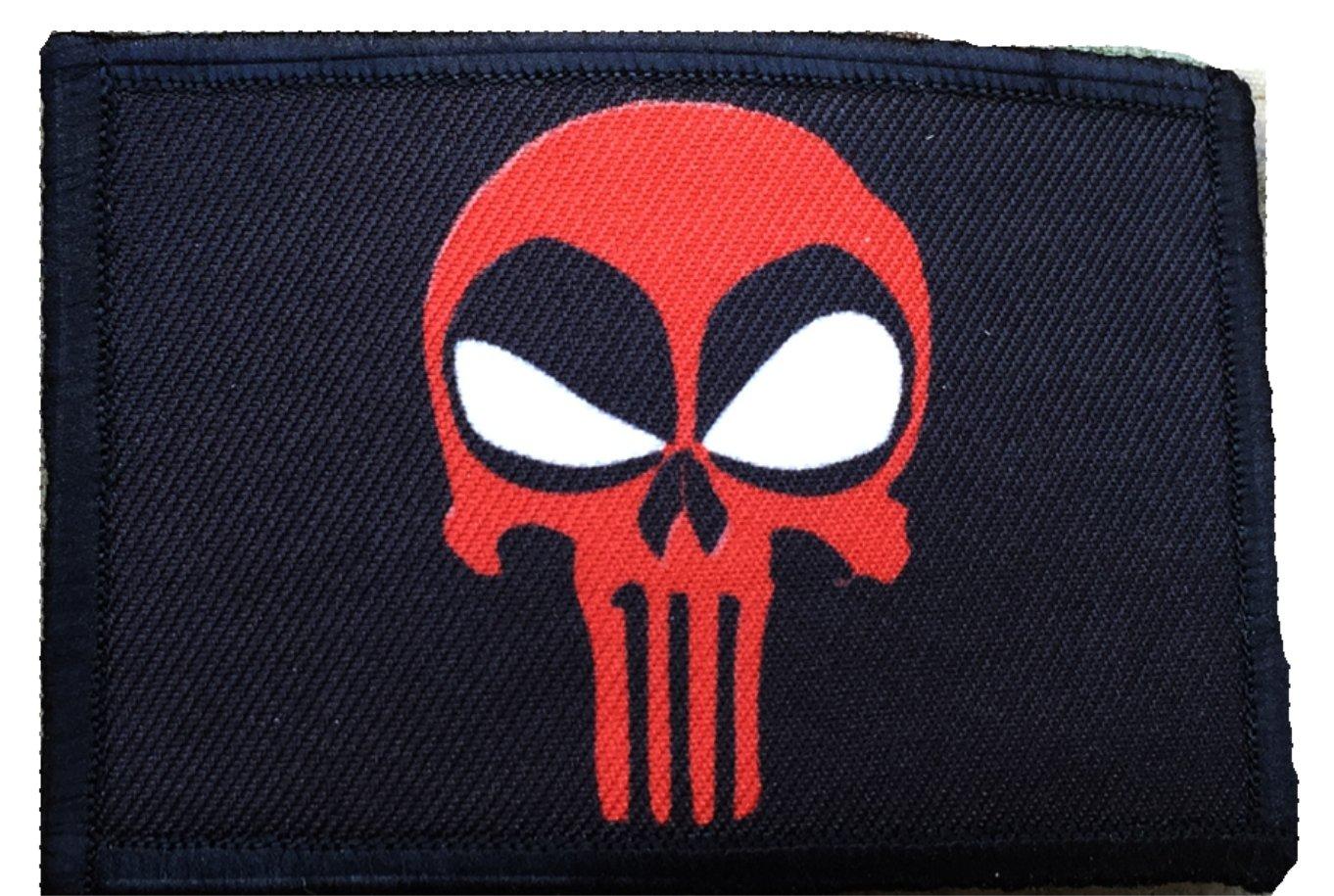 Deadpool Punisher Morale Patch. Perfecto para tu equipo táctico militar, mochila, gorra de béisbol del operador, portador de platos o chaleco.