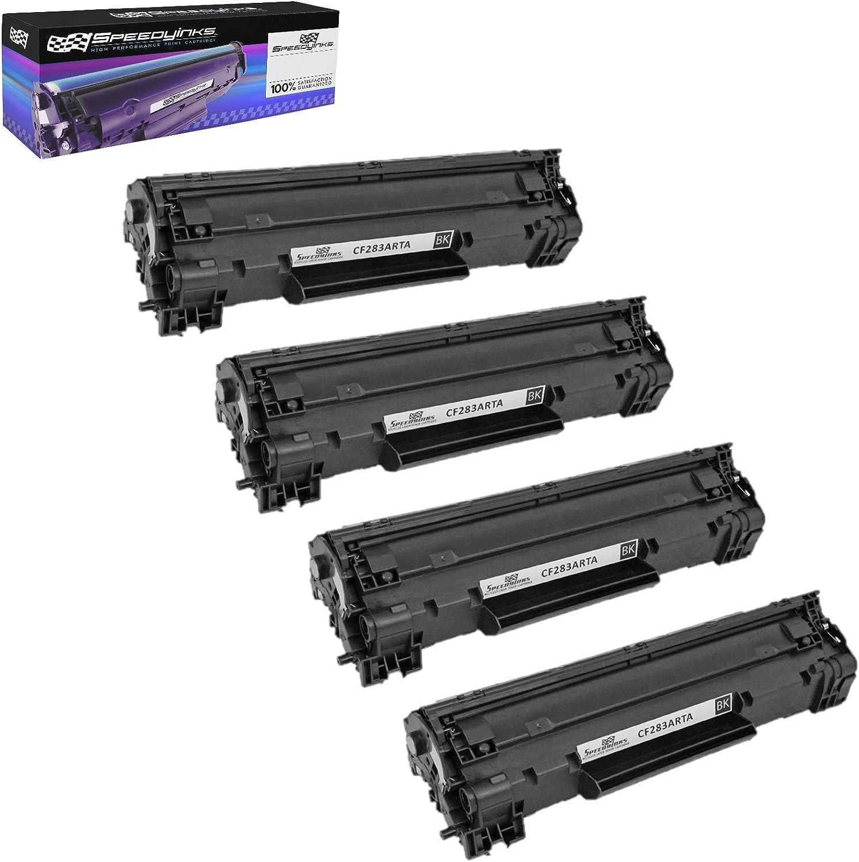 4PK CF283A Bk Toner Cartridge For HP 83A LaserJet Pro M127fn M127fw M125nw MFP