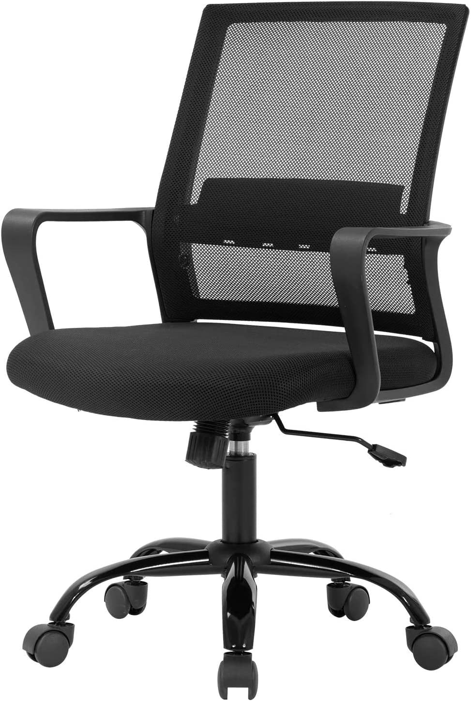 Office Chair Ergonomic Desk Task Chair Mesh Computer Chair Mid-Back Mesh Home Office Swivel Chair Modern Executive Chair