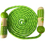 Jump Rope Kids, Children Adjustable Cotton Skipping Rope with Wooden Handle for Boys and Girls Fitness Training/Exercise/Outd