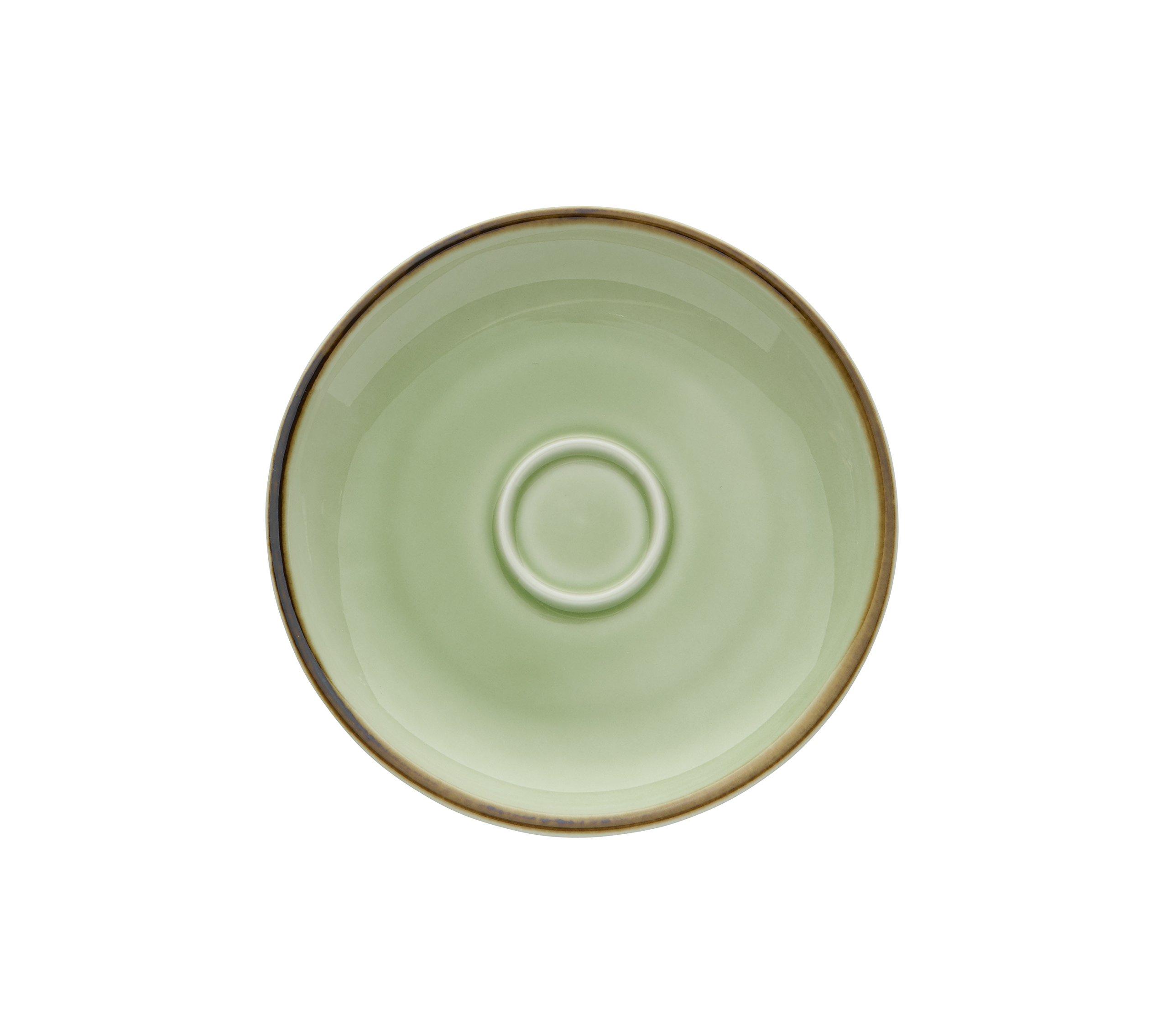 Oneida Foodservice F1463067505 Studio Pottery Saucer, 4.875'', Celadon