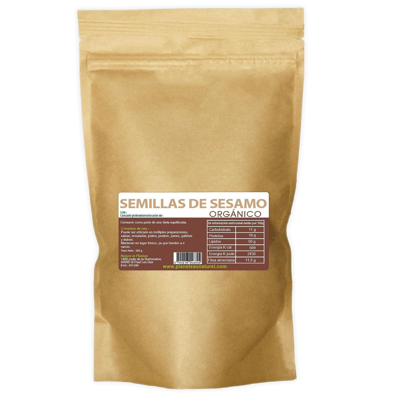 Semillas de Sesamo Orgánico 500g - Sesamum indicum