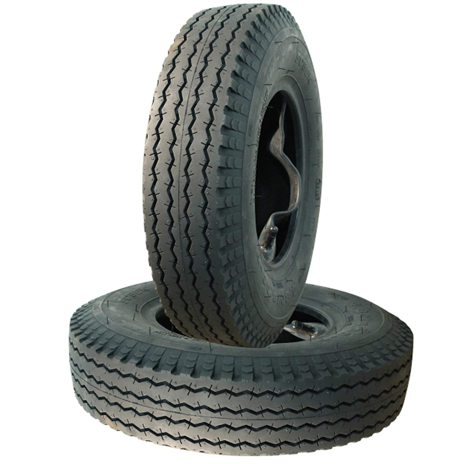 tyres with tube 2 x set 4.80//4.00-8 load capacity 340 kg per trailer tyre 71 M 6 PR S-6003 130 km//h max. TT