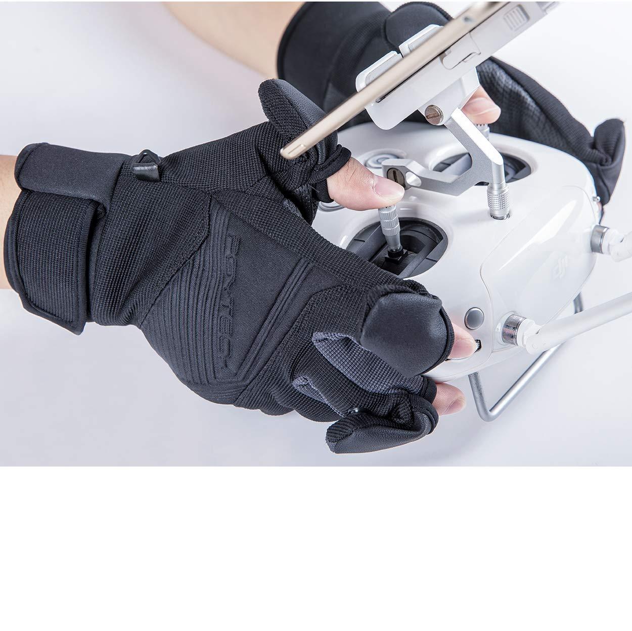 Schwarz L Pgytech Photography Gloves L Handschuhe