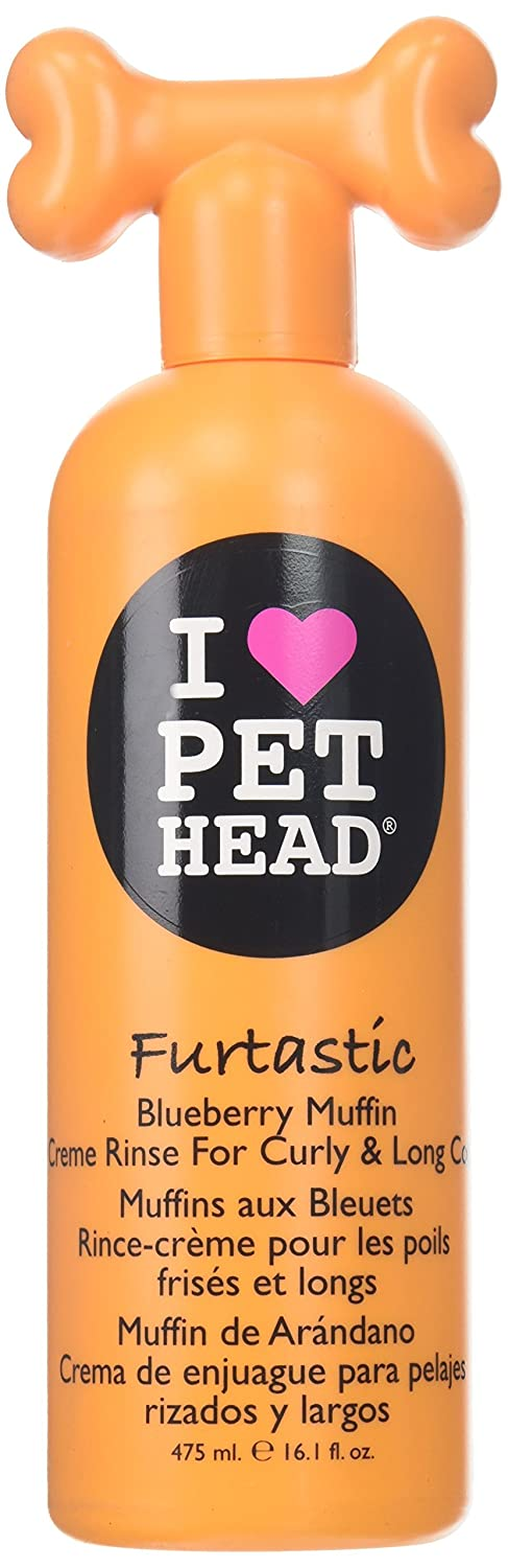 Pet Head Furtastic Crème Rinse for Curly and Long Coat Blueberry Muffin 16oz