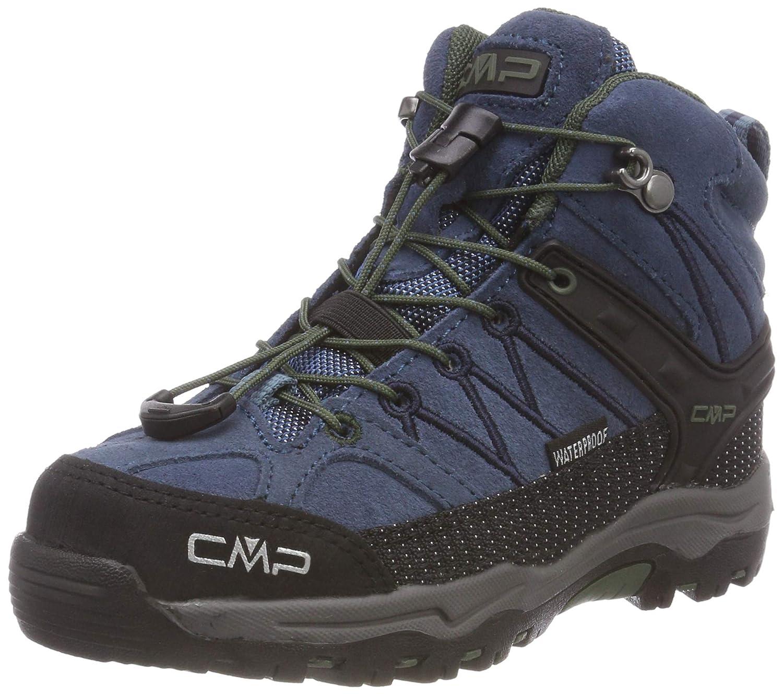 Bleu (Maiolica-kaky 79bn) 35 EU CMP  - Rigel Mid - Chaussures de Randonnée - Mixte Enfant