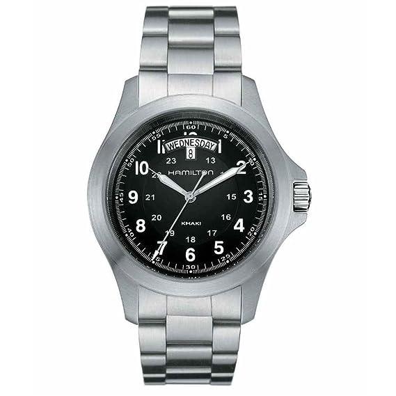 Hamilton Reloj Analogico para Hombre de Cuarzo con Correa en Acero Inoxidable H64451133: Amazon.es: Relojes