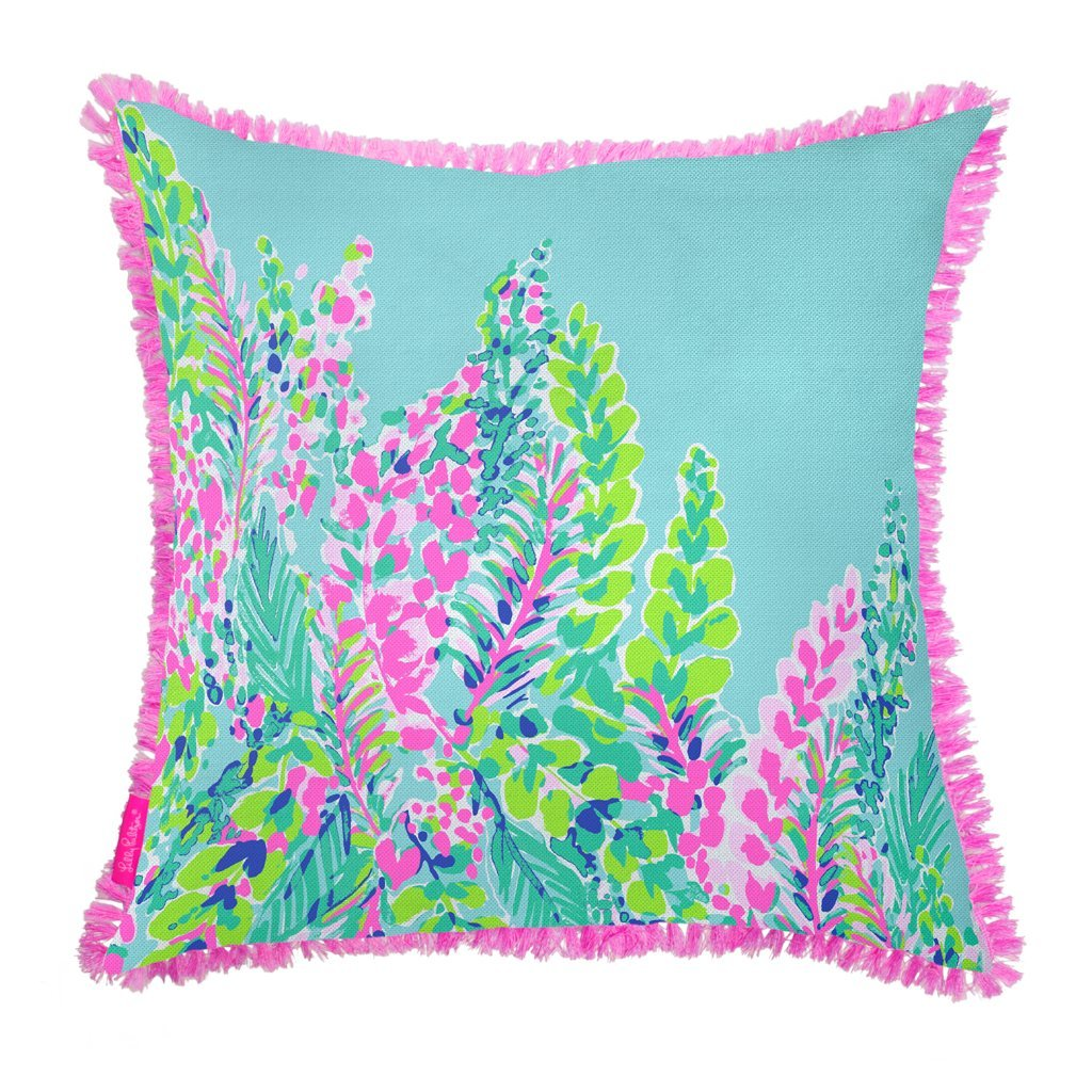 8f23f2337909ec Amazon.com: Lilly Pulitzer Large Pillow - Catch The Wave: Home & Kitchen