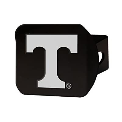 """FANMATS 21049 Team Color 3.4""""x4"""" Tennessee Black Hitch Cover: Automotive"""
