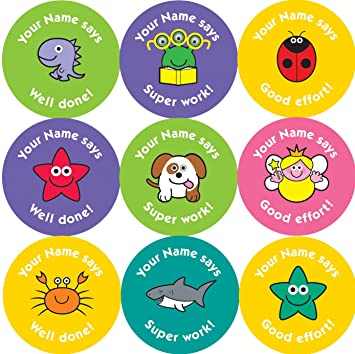 Personalised Reward Stickers Uk
