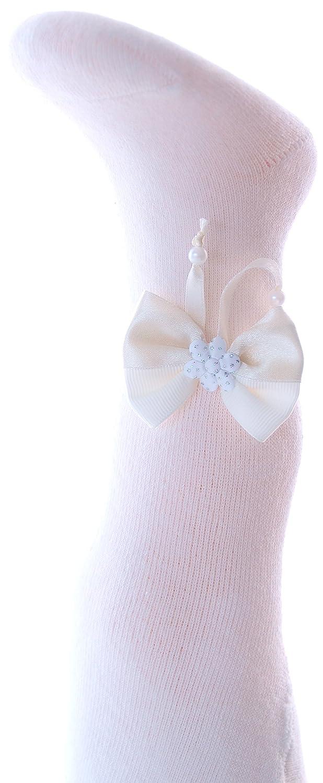 Baby Strumpfhose Weiß Silber 56 62 68 74 80 86 Taufe Festlich mit Muster NEU