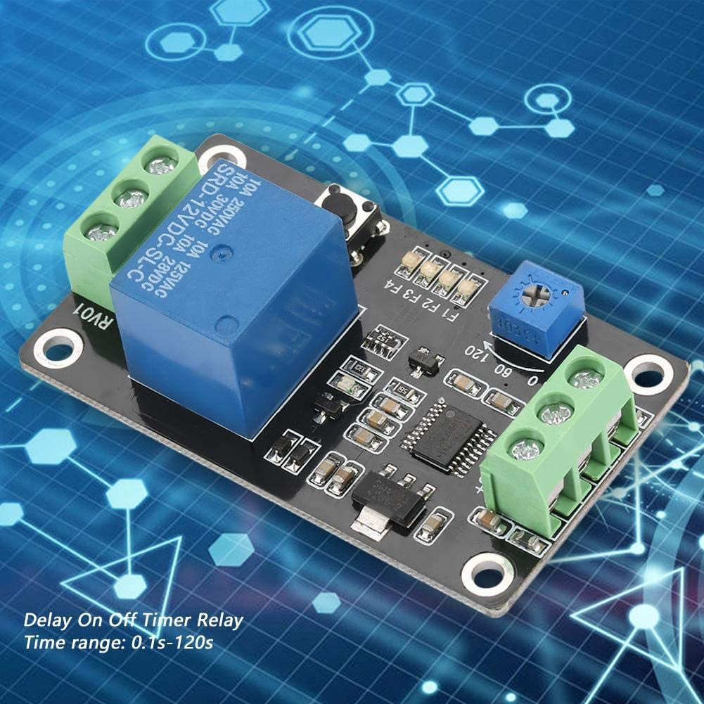 Timer Relay Self-Locking Delay On Off Time Switch Super 555 Timer DC 5V//12V//24V Time Delay Relay Module Board with Timer Delay Timer Relay DC12V