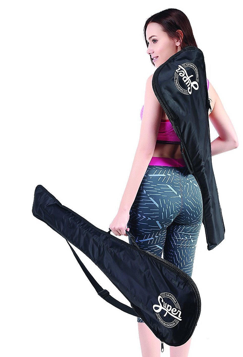 Premium SUP Paddle Bag for 3 Piece Adjustable Stand Up Paddles - Portable & Packable, Perfect for Travel