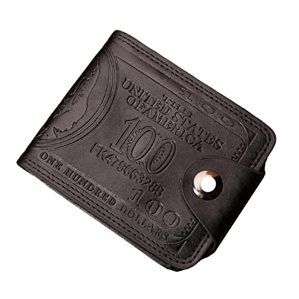 Outsta Men Dollar s Print Bifold Business Casual Leather Wallet Buckle  Pockets for ID Card Credit Card 5c0c51999100d