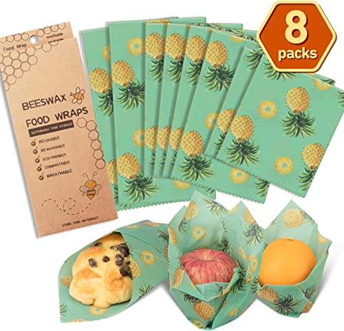 AwesomeWare Beeswax Food Wrap Reusable Assorted 8 Packs