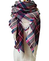 WOZHIFU Women's Plaid Blanket Scarf Winter Scarf Large Soft Gorgeous Wrap Shawl