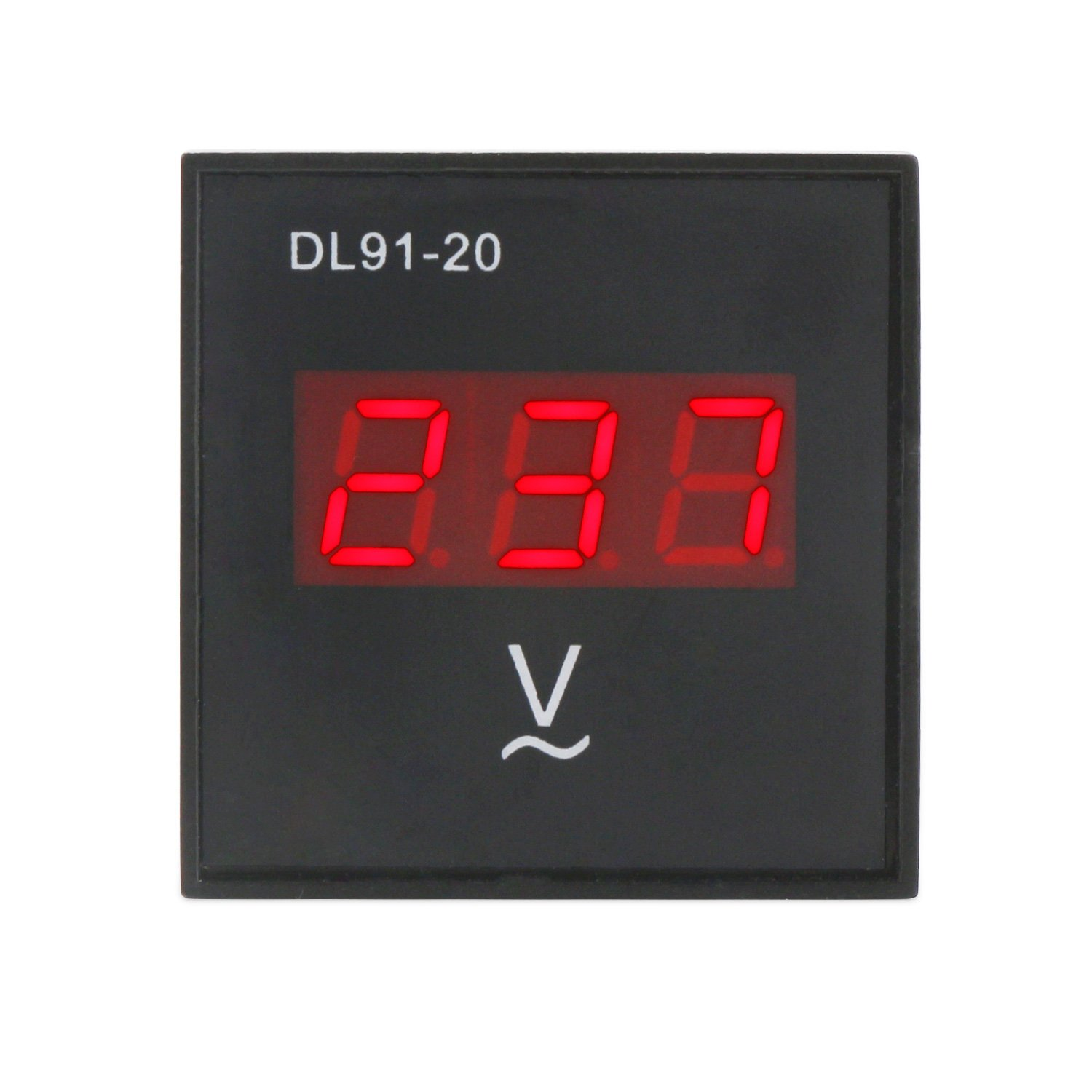 DROK Red LED Digital Voltmeter Panel Meter AC 80-300V Voltage Measuring Detector Gauge 220V Volt Monitor Measurement Tester for Gasoline Generator ...