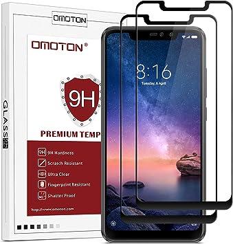 OMOTON Protector Pantalla Xiaomi Redmi Note 6 Pro Protector de ...
