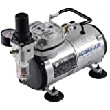 Agora-Tec ® Compresseur Airbrush Compressor at-02AC, pour applications Airbrush avec 4bar et 20L/min, avec Condensation Filtre à eau et régulateur de pression