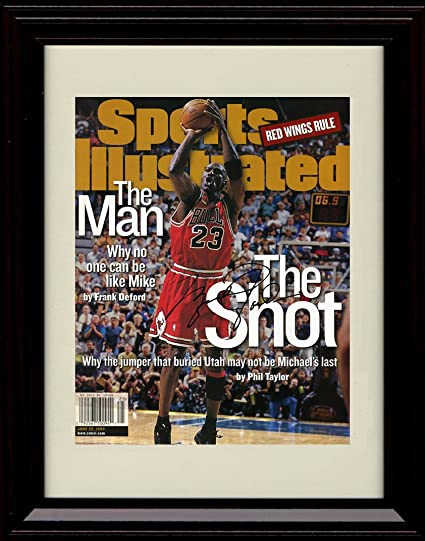 e8319a7eecf Image Unavailable. Image not available for. Color: Framed Michael Jordan  Sports Illustrated Autograph Replica Print - Chicago Bulls ...