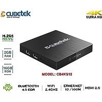 Cubetek 4K Portable Smart TV Box With 2Gb RAM, 16Gb ROM, HDMI 2.0, Android 6.0, Wifi, Dolby 5.1, Model: Cb4Ktx2