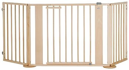 Geuther - Konfigurationsgitter 2762, Set bestehend aus Türelement, Verlängerung, Winkelelement mit Fuß, erweiterbar, Holz, gr