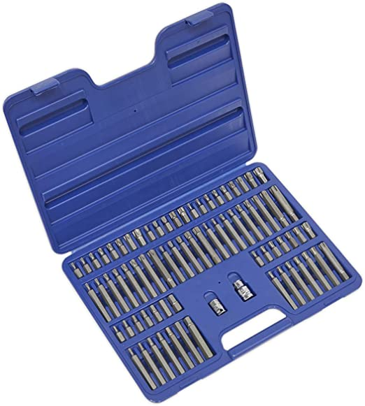 Sealey AK21974 - Trx-star/seguridad trx-star/hex/spline/ribe bit puesto 74 pc 3/8