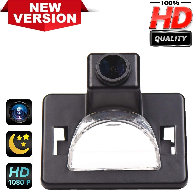 HD 1280x720p Rear Reversing Backup Camera 170/° Rearview License Plate Replacement Camera Night Vision Ip69k Waterproof for Mazda5 Mazda 5 2006-2010 M5