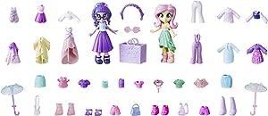 My Little Pony Equestria Girls Fashion Squad Fluttershy & Twilight Sparkle Mini Doll Set with 40+ Accessories; 2 Dolls with Lots of Fashions & Accessories