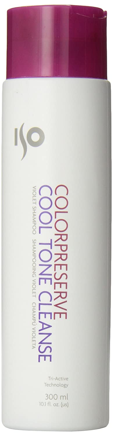 Color Preserve Cool Tone Cleanse Violet Shampoo by ISO for Unisex - 10.1 oz Shampoo ISO-9744