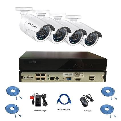 5d9cef510 BNTECHSZ H.265 4CH 1080P NVR KIT POE DVR KIT Home Video Surveillance  Security Cameras