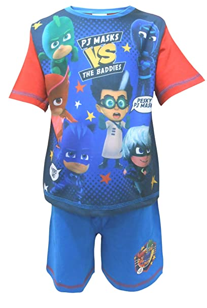 PJ MASKS Short Pyjamas Pjs Blue