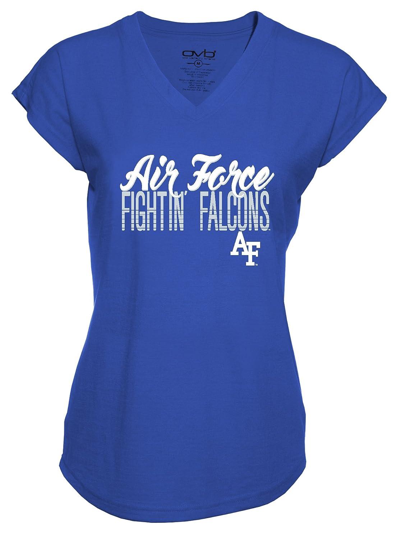 Old Varsity Brand NCAA Air Force Falcons Ladies Tri-Blend V-Neck T-Shirt X-Large Royal Blue