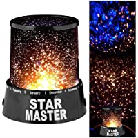 DPISZONE Romantic LED Colourful Cosmos Starry Sky Star Master Projector, Beauty Night Bed Side Lamp, Children Kids Baby Sleep Lighting with USB Cable Best Gift for Baby