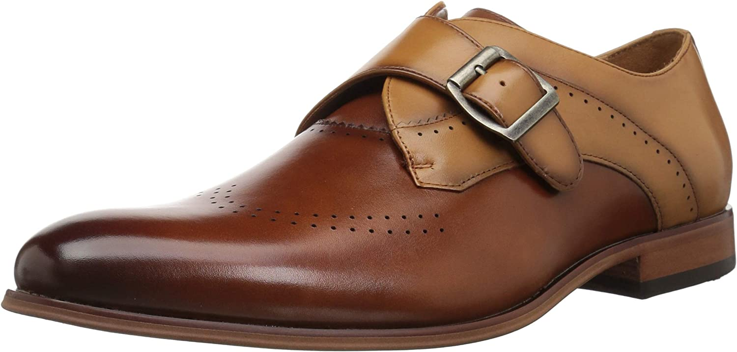 Stacy Adams Saxton Mens Shoes Wingtip Monk Strap Tan Multi 25178-238 Clearance