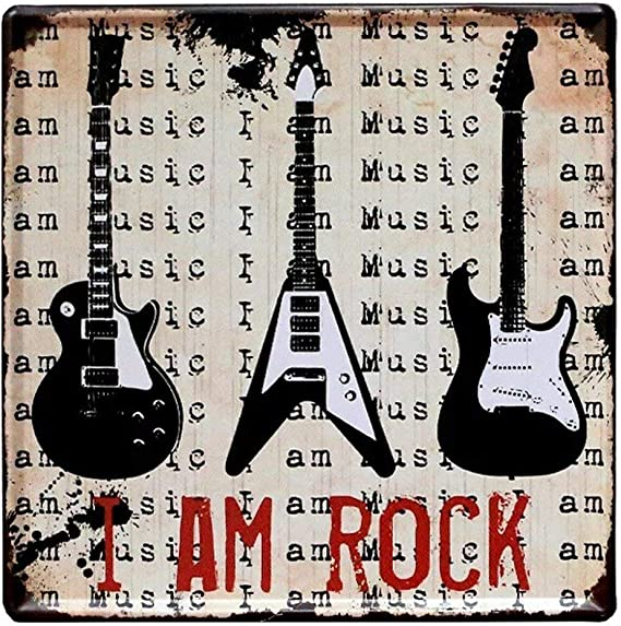 Hunnry I Am Rock Guitarra Hierro Pintura Retro Personalizado Metal ...
