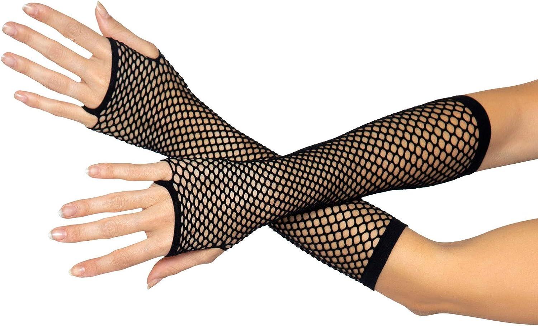 Leg Avenue womens Triangle Net Fingerless Gloves Exotic Apparel Accessory, Black, One Size US: Leg Avenue: Clothing