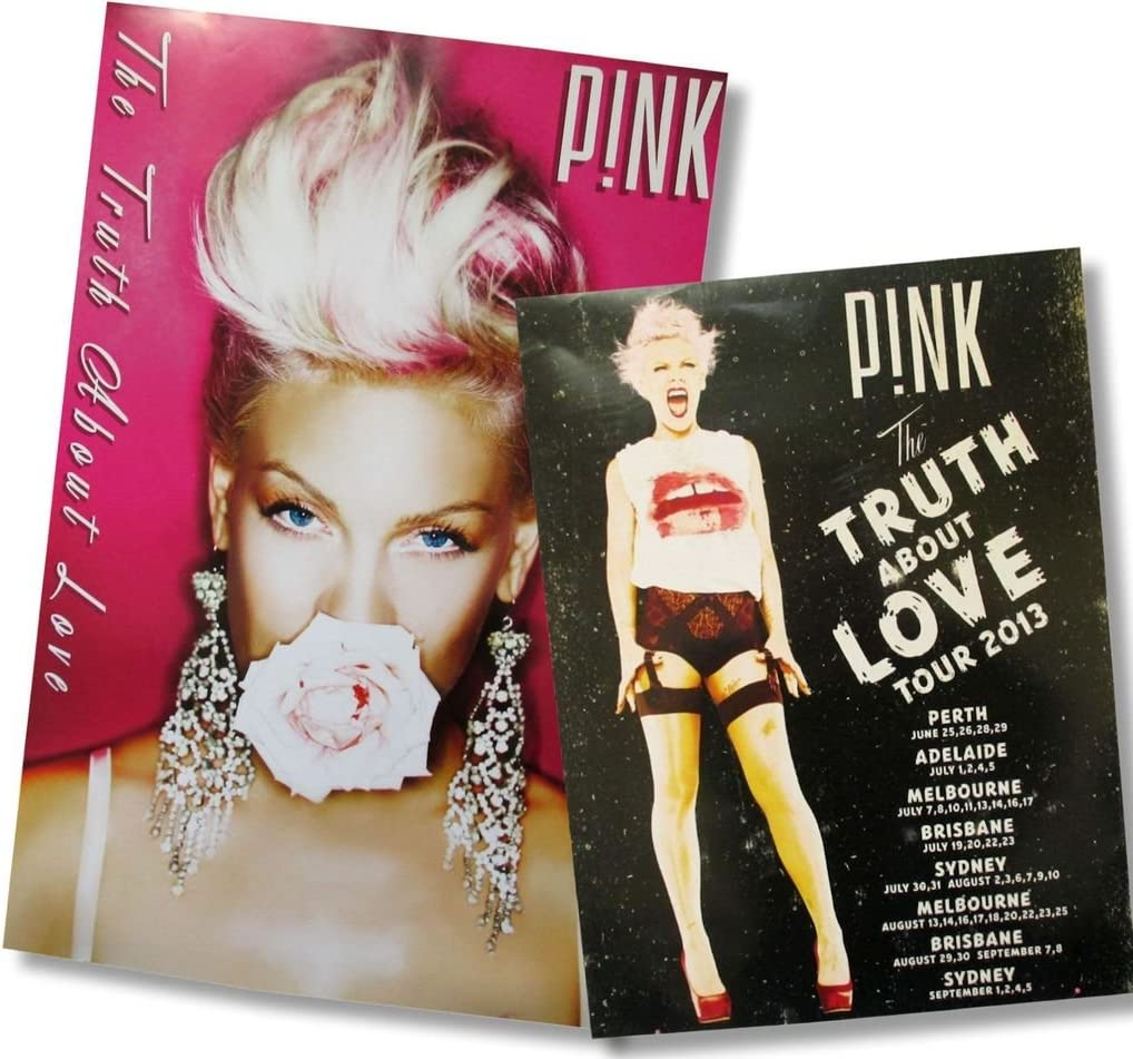 """PINK P!NK FUNHOUSE TOUR 2009 100/% SOLD OUT 23/"""" x 17/"""" WALL POSTER NEW//OFFICIAL"""