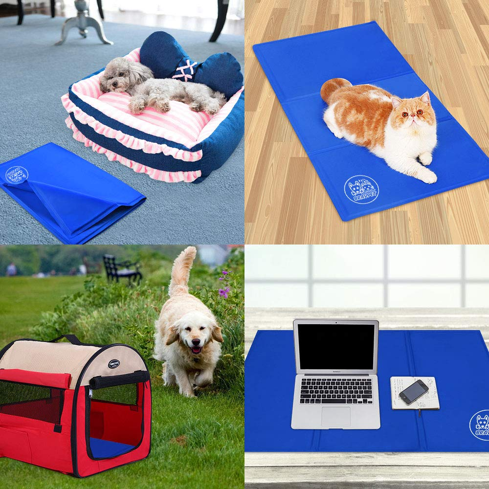 Bravpet Pet Cooling Mat Pet Self cooling pad mat bed mats Comfort for Cats and Dogs Large by Bravpet (Image #6)
