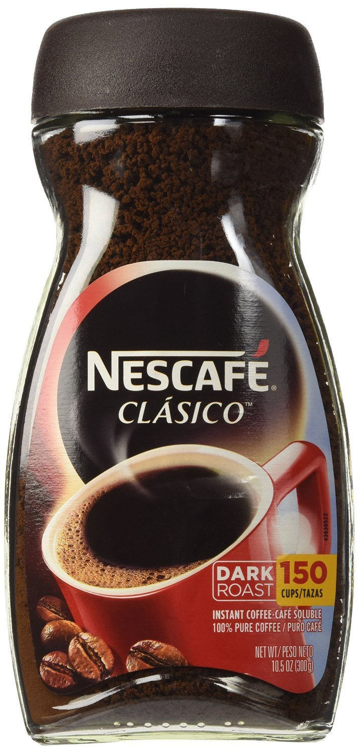 Nescafe Clasico, Dark Roast Instant Coffee 10.5-Ounce Jars (Pack of 4)