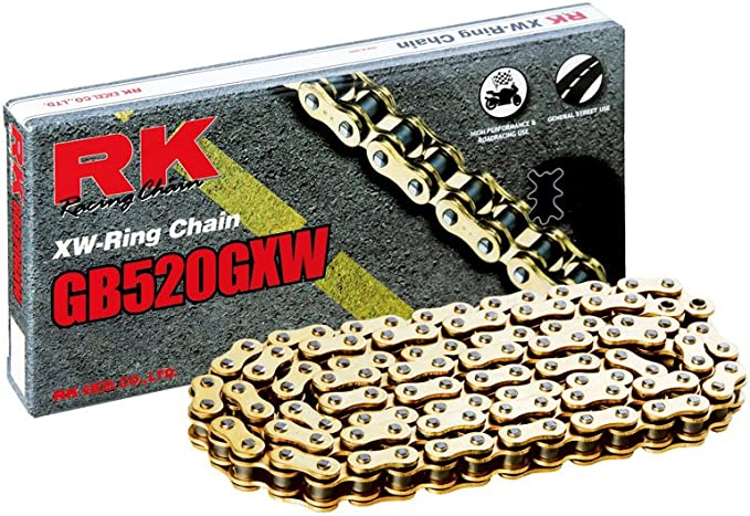 RK Racing Chain 520-SO-120 120-Links O-Ring Chain with Connecting Link
