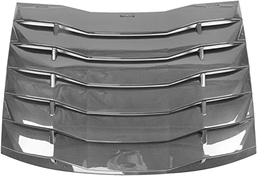 Side Window Scoop Louver Cover Carbon Fiber Print IKON MOTORSPORTS 2012 2013 2014 2015 2016 2017 Side Window Scoop Louver /& Rear Cover Compatible With 11-20 Dodge Charger Polypropylene