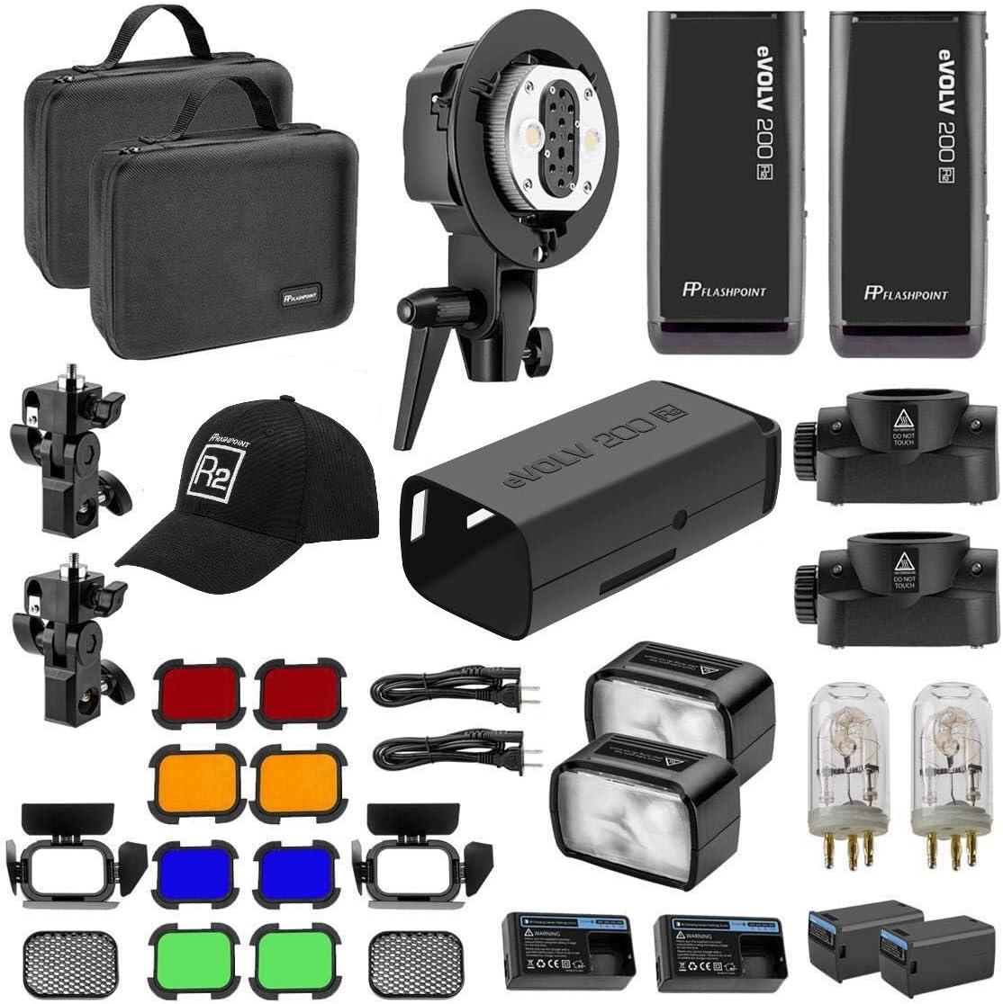 Flashpoint eVOLV 200 TTL Pocket Flash Dual Head Pro Kit Adorama Exclusive Kit