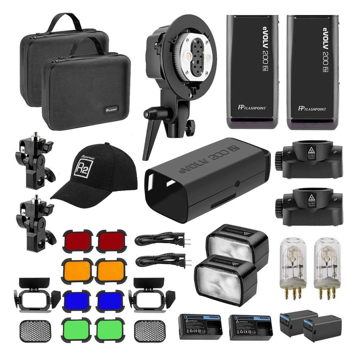 Flashpoint eVOLV 200 TTL Pocket Flash Dual Head Pro Kit - Adorama Exclusive Kit by Flashpoint (Image #1)