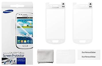 f7541cfbe60 Samsung Protective Film - Protector de pantalla para Samsung Galaxy S3 Mini,  blanco: Amazon.es: Electrónica