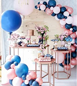 Soonlyn Gender Reveal Decorations Balloon Garland Kit 110 Pcs Navy Blue Pink Balloon Arch for Gender Reveal Party Supplies Baby Shower Birthday