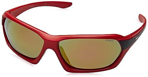 Polaroid Eye, Gafas de Sol Unisex Adulto, Rojo (Rosso), 64